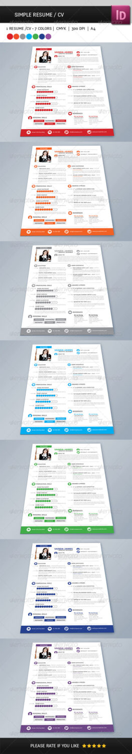 Simple Resume - preview