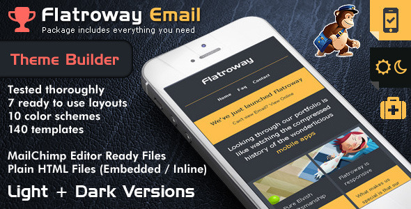 Flat Email Templates - Mailchimp mobile templates