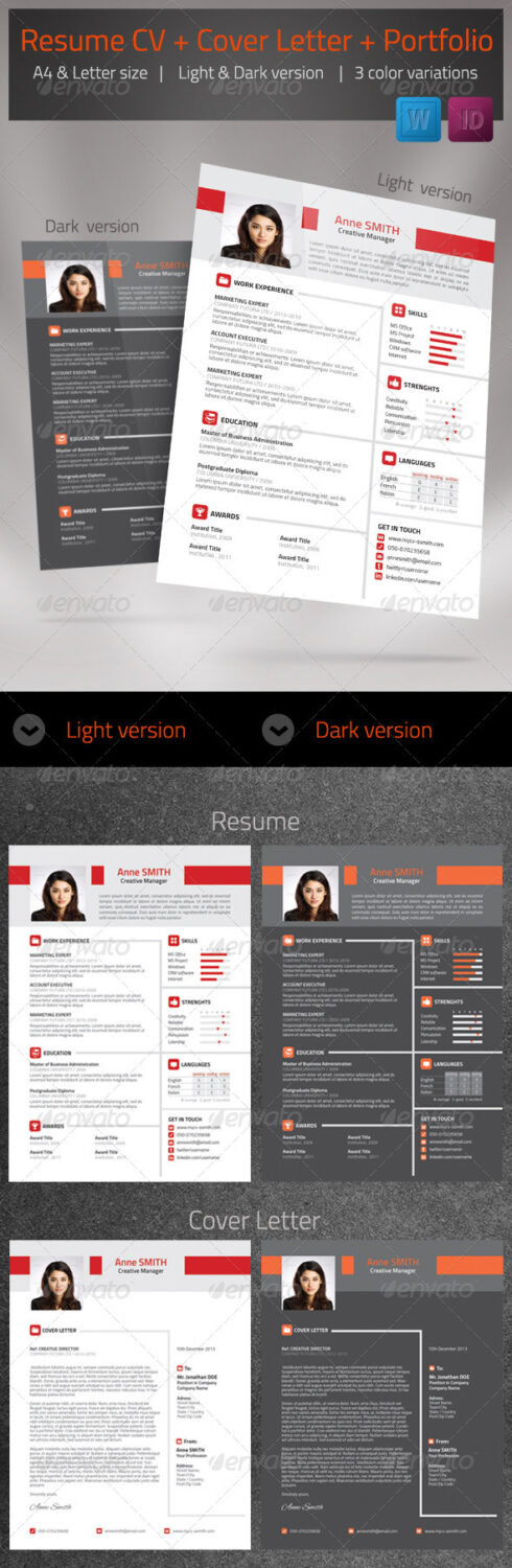 Magnificent Resume Cv Cover Letter Set 01 Contemporary - Example ...