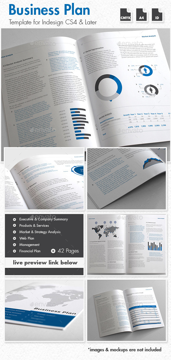 Clear and professional business plan templates for download new preview image accmission