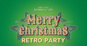 Christmas Retro Flyer Template preview