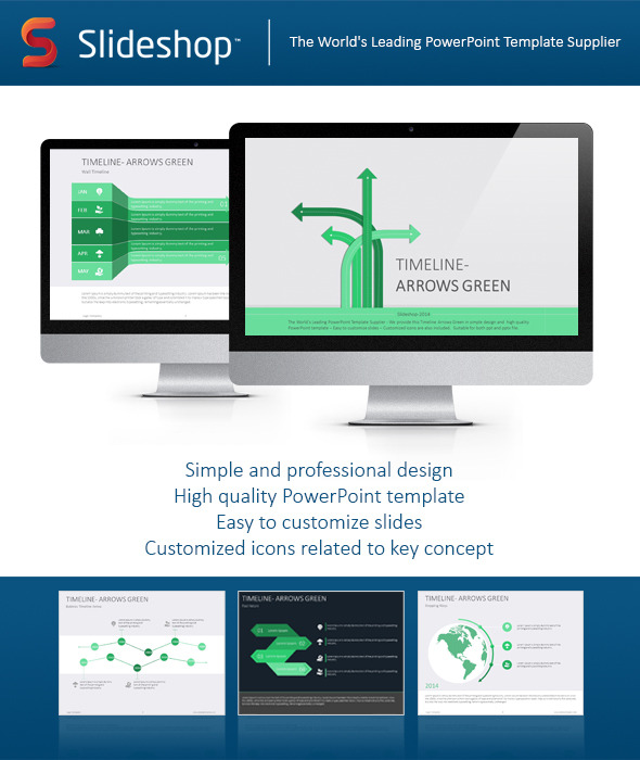 TimelineArrowsGreen for GraphicRiver