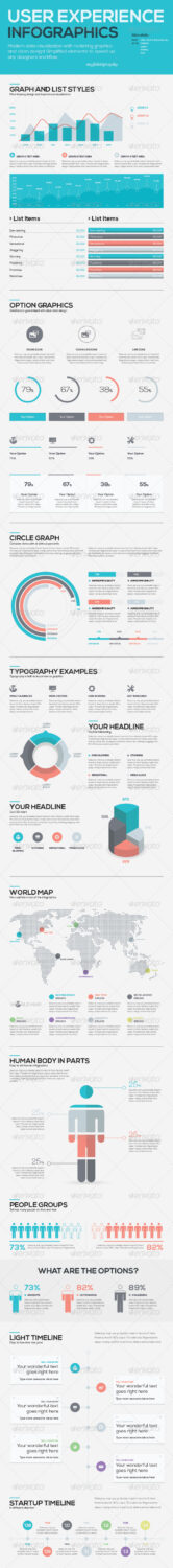 User Experience Infographic Vector Templates gr