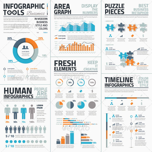 Infographic-tools-business-edition-blue-orange-gr