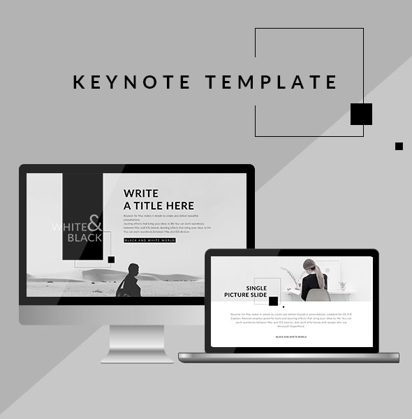 black and white keynote template