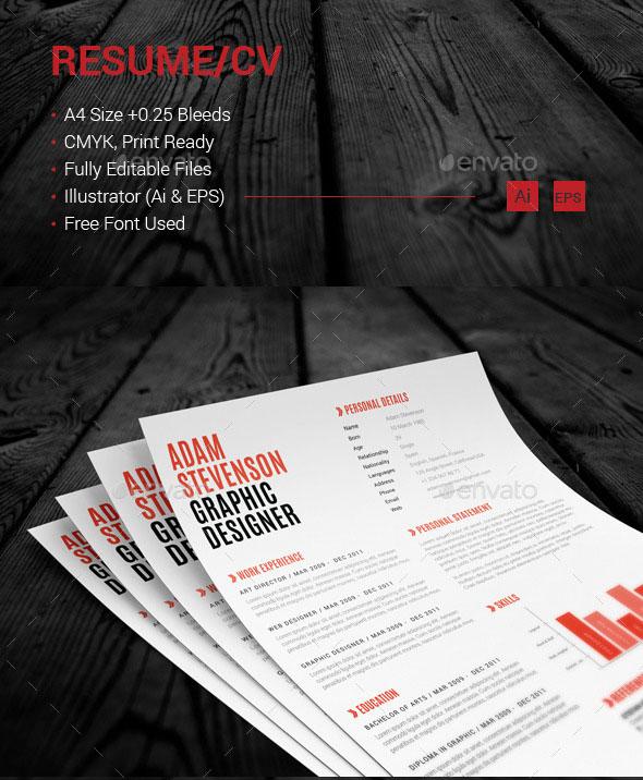 resume / cv preview