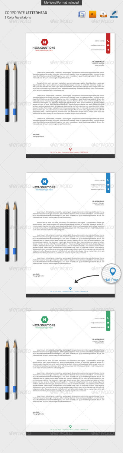 Ms Word Templates Preview  Corporate Word Templates