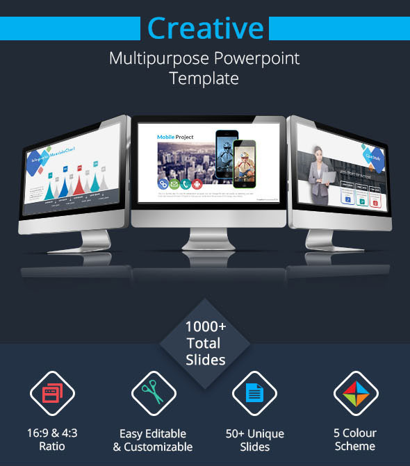 Creative powerpoint presentation template