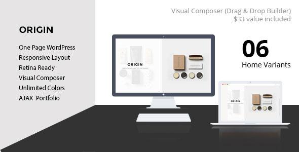 origin promo website design