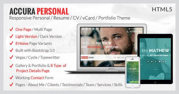 personal cv web