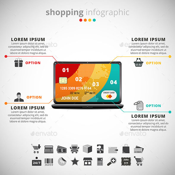 Shopping Infographic Template