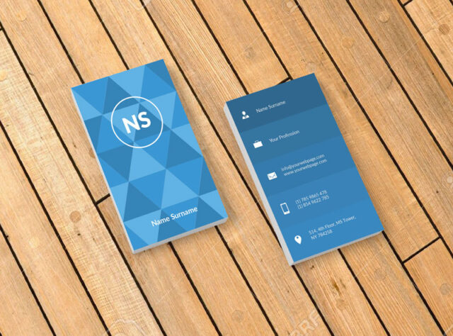 flat vertical business card