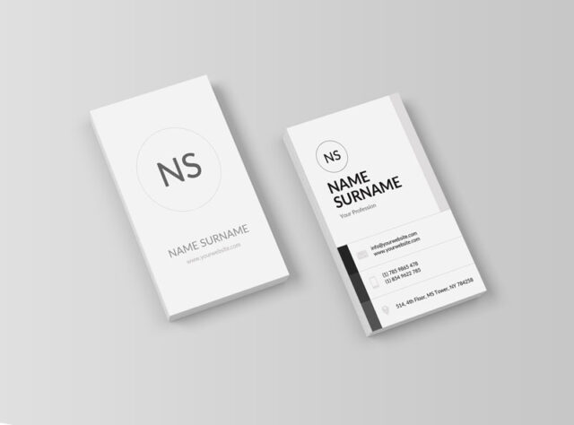 vertical business card elegant