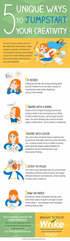 5 Unique Ways To Jumpstart Your Creativity