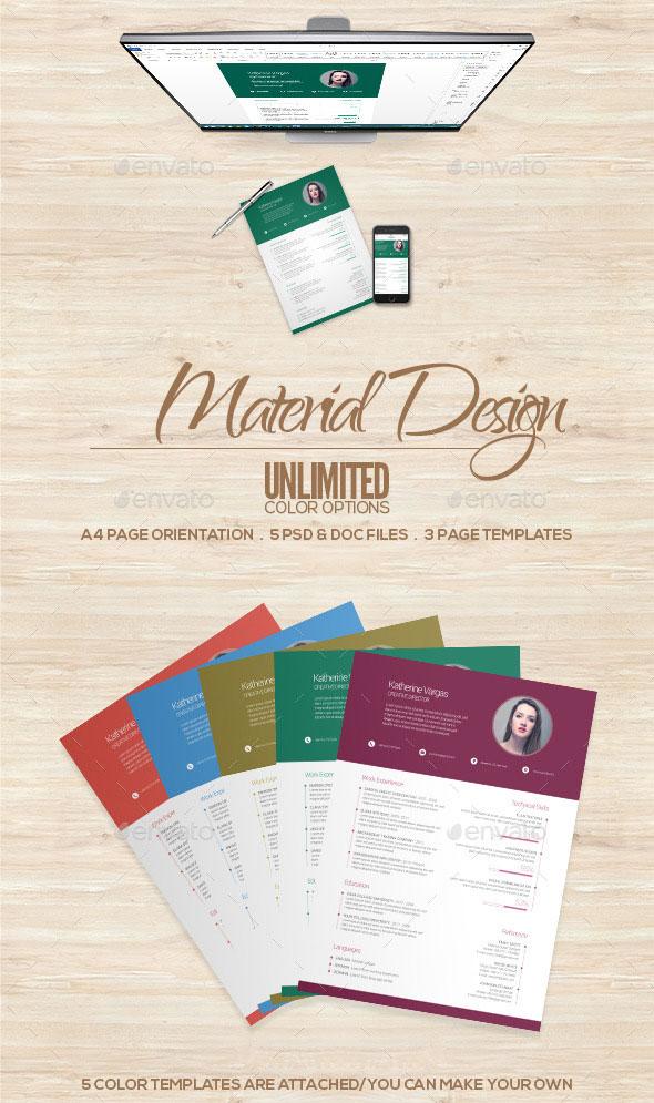 Material-Design-Resume
