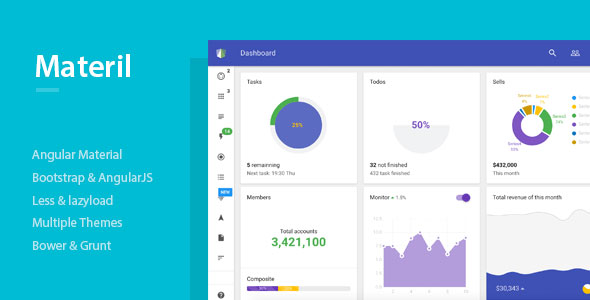 material-design dashboard template
