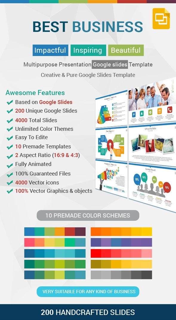 best business google slides presentation template