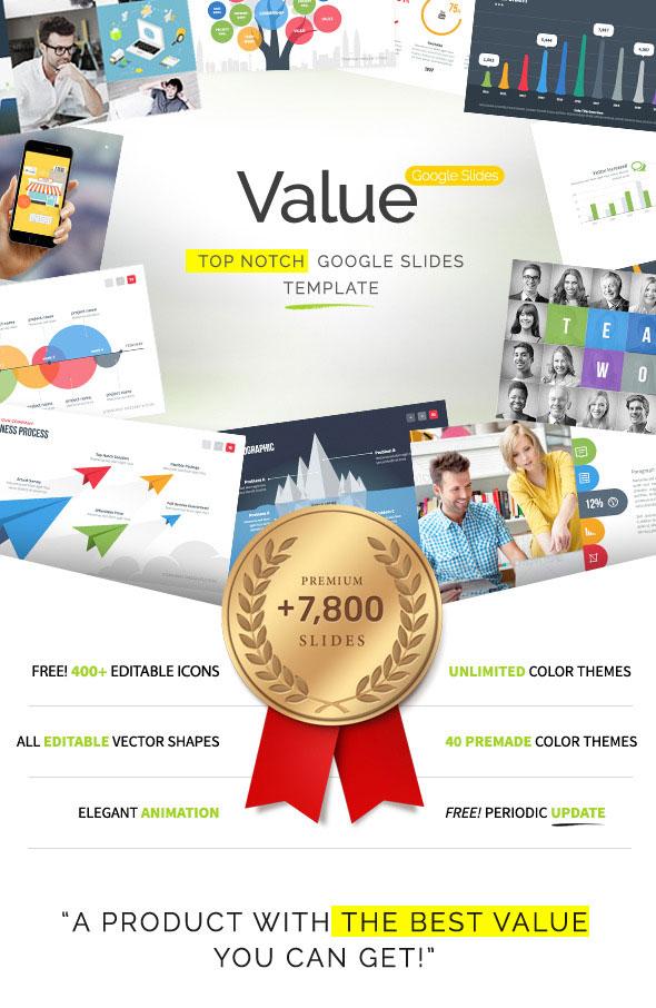 Value google slides presentation template