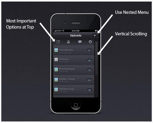 Mobile website navigation