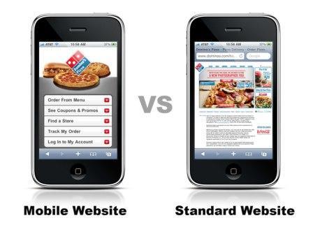 Mobile Website Vs Standard Website