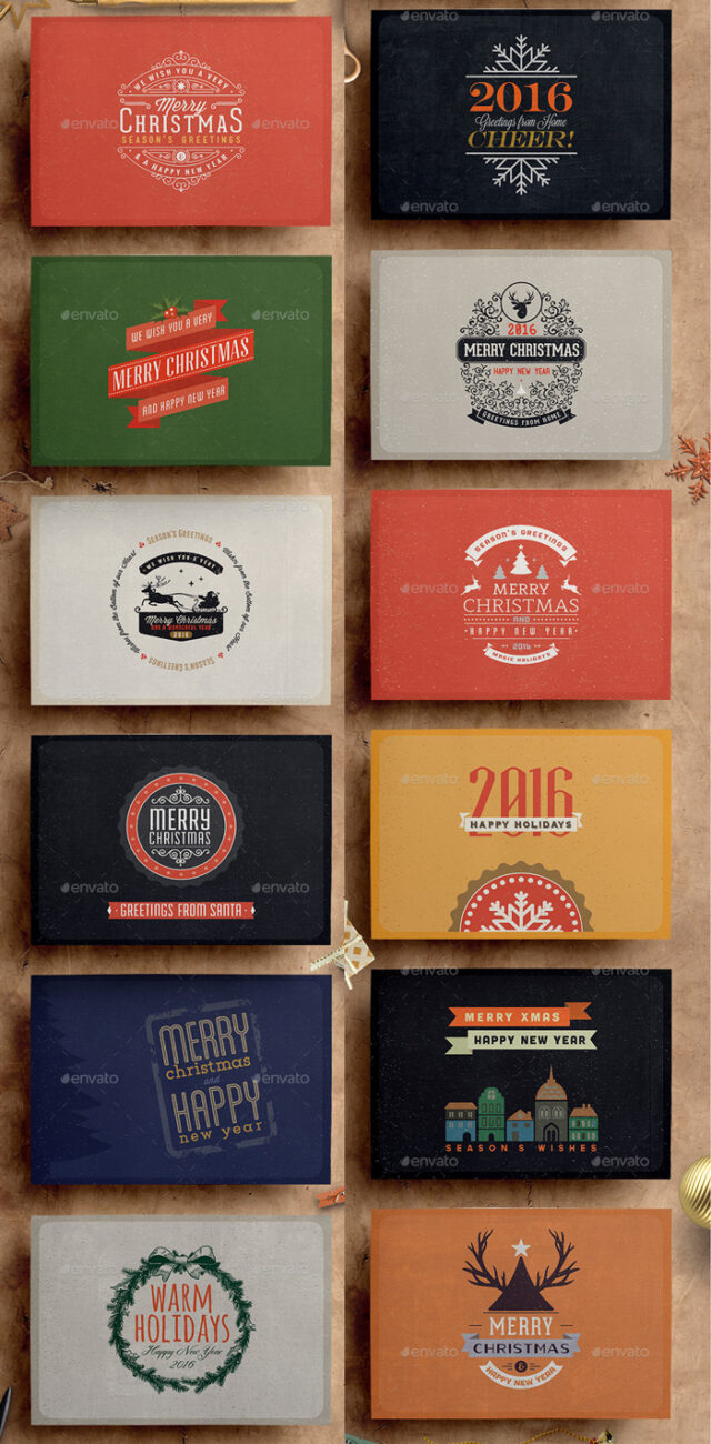 Preview—Retro-Vintage-Christmas-Card-Pack