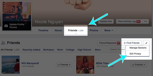 hiding friends list