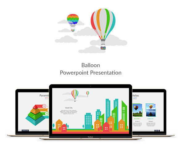 Balloon Flat Powerpoint Presentation
