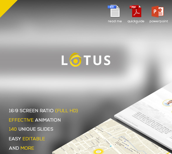 Lotus Flat Powerpoint Presentation