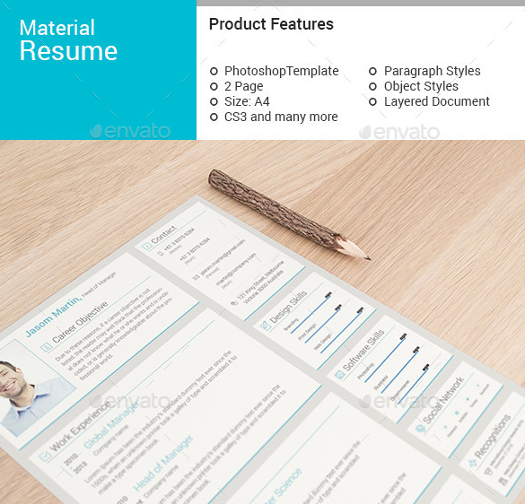 Material Infographic Resume