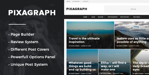 Pixagraph - WordPress Themes for 2016