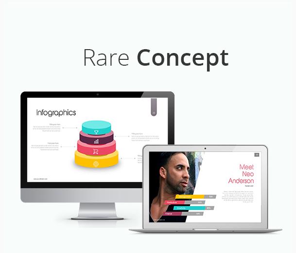 Rare Concept Flat Powerpoint Presentation