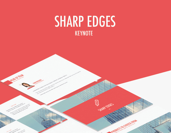 Sharp Edges Keynote Template for 2016