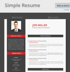 Microsoft Word CV Template