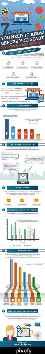 e-commerce business infographic