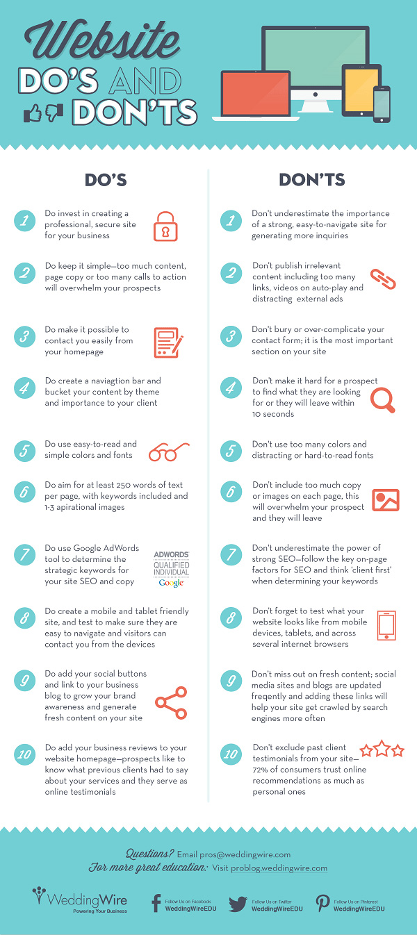 small business website do's and dont's