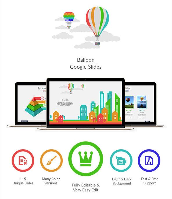 baloon-google-slide-template