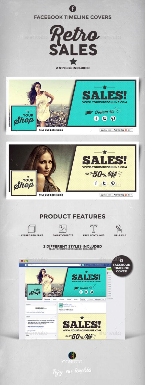 retro sales facebook cover