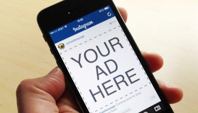 instagram ad featured