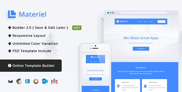 Material - Responsive Email Template