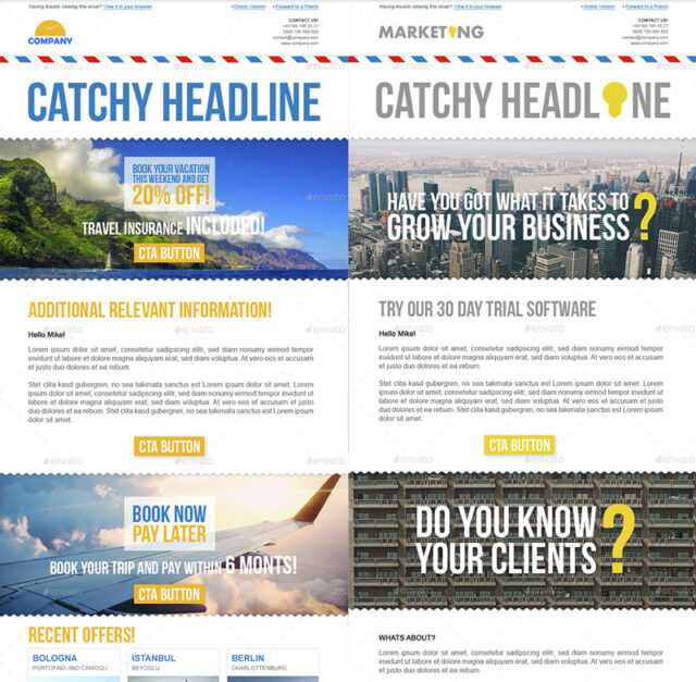 2 newsletter templates pack