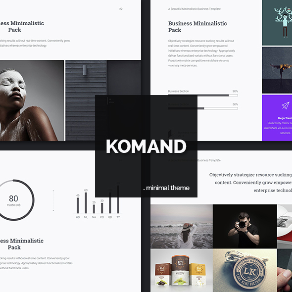 KM Cover Powerpoint template