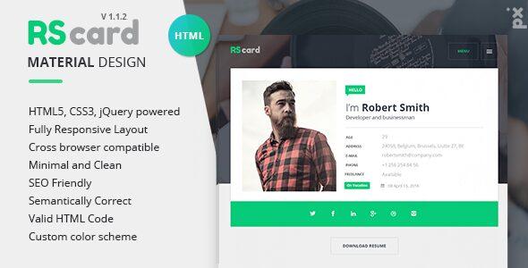 resume website - rs card