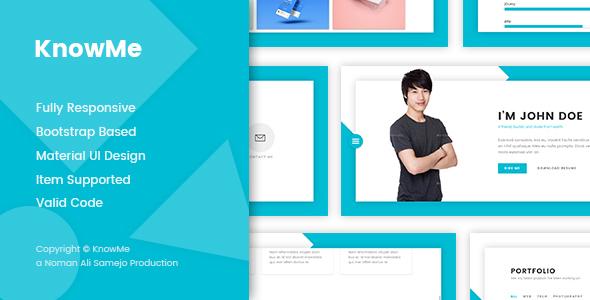 knowme resume website