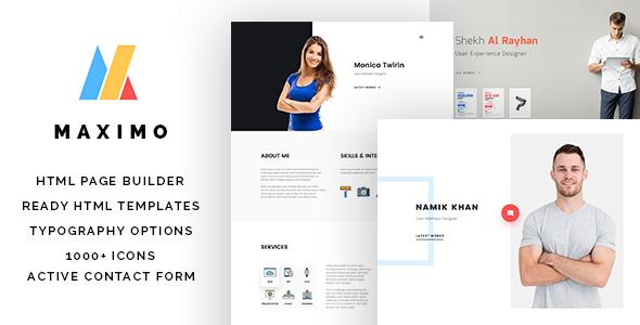 maximo resume website