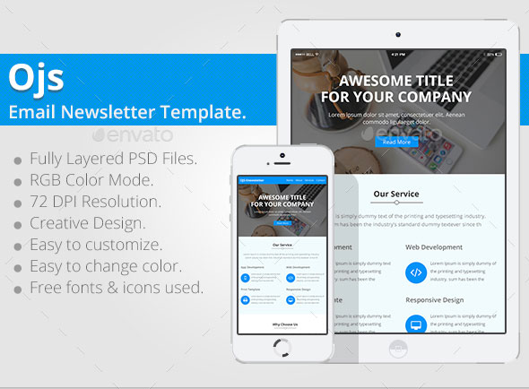 ojs email newsletter template