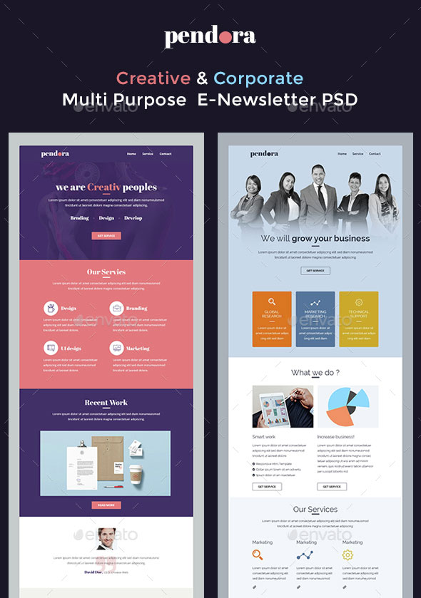 pendora newsletter template