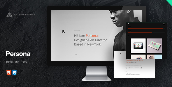 persona resume website - Website Resume