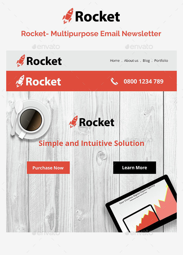 rocket email template