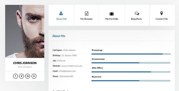 vcard resume website