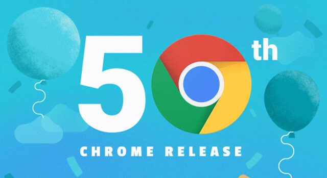 Chrome 50th Release featured